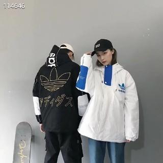 アディダス(adidas)の男性と女性のための色の暖かいキルティングジャケットのクラシックバージョン(ダウンコート)