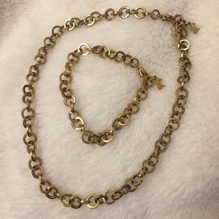 アガタ(AGATHA)のゴールドネックレス ブレスレットセット(ネックレス)