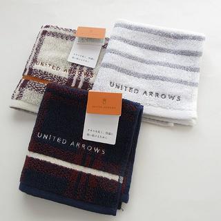 ユナイテッドアローズ(UNITED ARROWS)の✧*ユナイテッドアローズ✧*タオルハンカチ3枚セット(ハンカチ/ポケットチーフ)