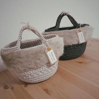 ZARA - handmade ファーバッグ