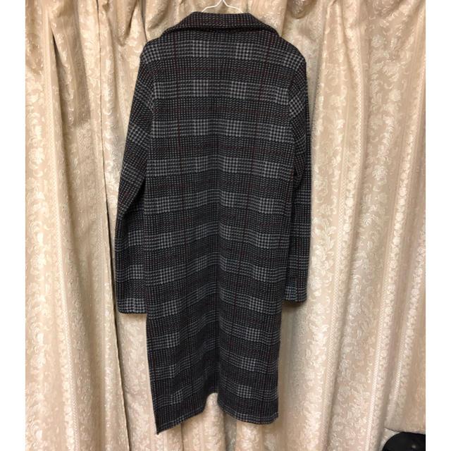 しまむら(シマムラ)のチェックガウンコート♡新品 レディースのジャケット/アウター(ガウンコート)の商品写真