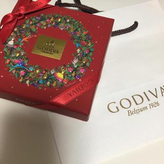 チョコレート(chocolate)の新品未開封 GODIVA ゴディバ  クリスマス アソートメント 4個入り(菓子/デザート)