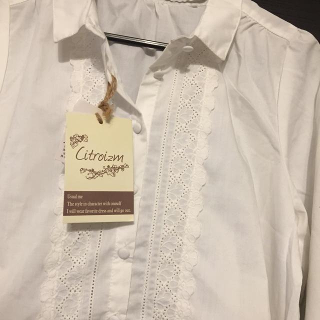 しまむら(シマムラ)のレースシャツ 新品 サイズ M しまむら レディースのトップス(シャツ/ブラウス(長袖/七分))の商品写真
