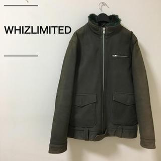 ウィズ(whiz)のWHIZ LIMITED ウィズリミテッド 中綿キルトレザーJKT 定価7万程度(レザージャケット)
