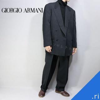 ジョルジオ アルマーニ イタリア製 ワイドセットアップ ダークグレー A213(テーラードジャケット)