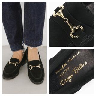 ディエゴベリーニ(DIEGO BELLINI)のDIEGO BELLINI ベリーニ  ビットローファー 黒  36 美品(ローファー/革靴)