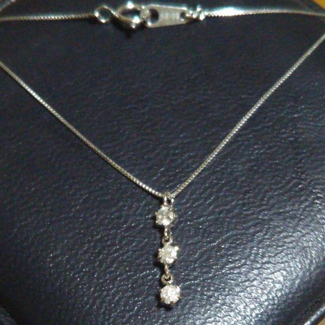 最終値下げ k18ダイヤモンドネックレス レディースのアクセサリー(ネックレス)の商品写真