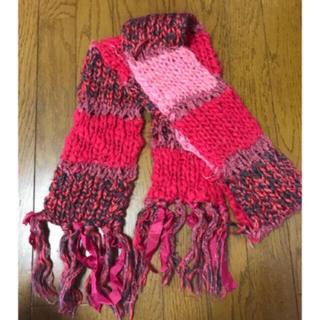 ザラ(ZARA)の本日限定お値下♡♡ ピンク リボン デザイン マフラー♡♡セレクトショップ購入(マフラー/ショール)