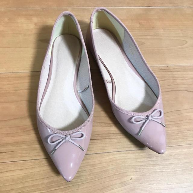 GU(ジーユー)のGU ポンんテッドパンプス✩バレエシューズ✩くすみピンク レディースの靴/シューズ(バレエシューズ)の商品写真