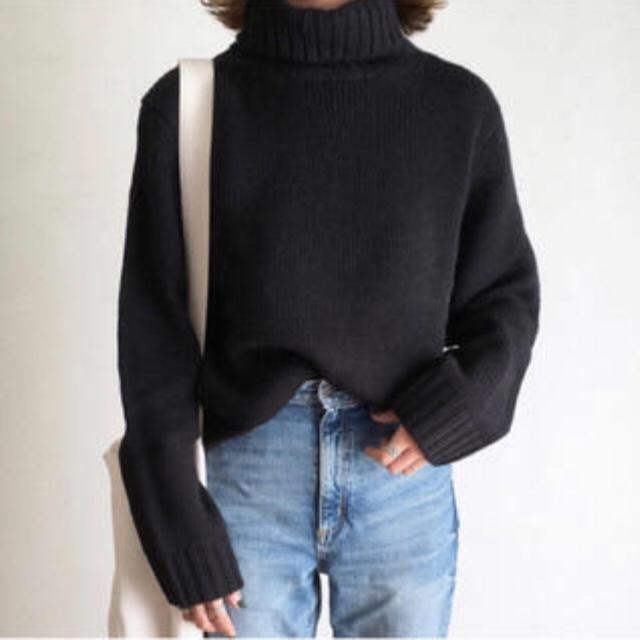 GU(ジーユー)のGU ローゲージタートルニット メンズのトップス(ニット/セーター)の商品写真