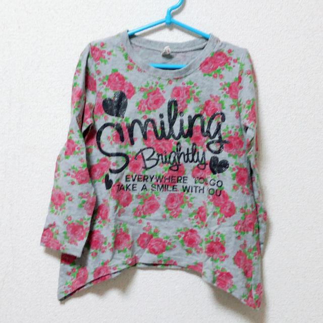 しまむら(シマムラ)のカットソー 110 キッズ/ベビー/マタニティのキッズ服 女の子用(90cm~)(Tシャツ/カットソー)の商品写真
