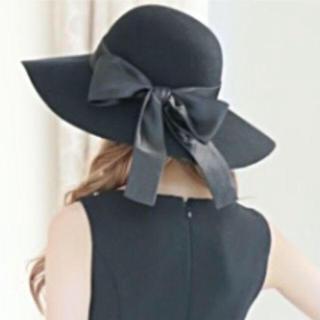 エミリアウィズ(EmiriaWiz)のエミリアムウィズ リボン 女優帽(ハット)