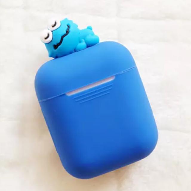 Apple AirPods ケース クッキーモンスター スマホ/家電/カメラのスマホアクセサリー(ストラップ/イヤホンジャック)の商品写真