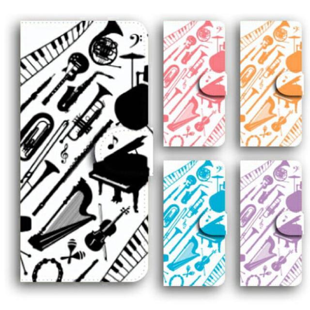 スマホケース 手帳型 iPhone Xperia GALAXY ピアノ 楽器  スマホ/家電/カメラのスマホアクセサリー(Androidケース)の商品写真