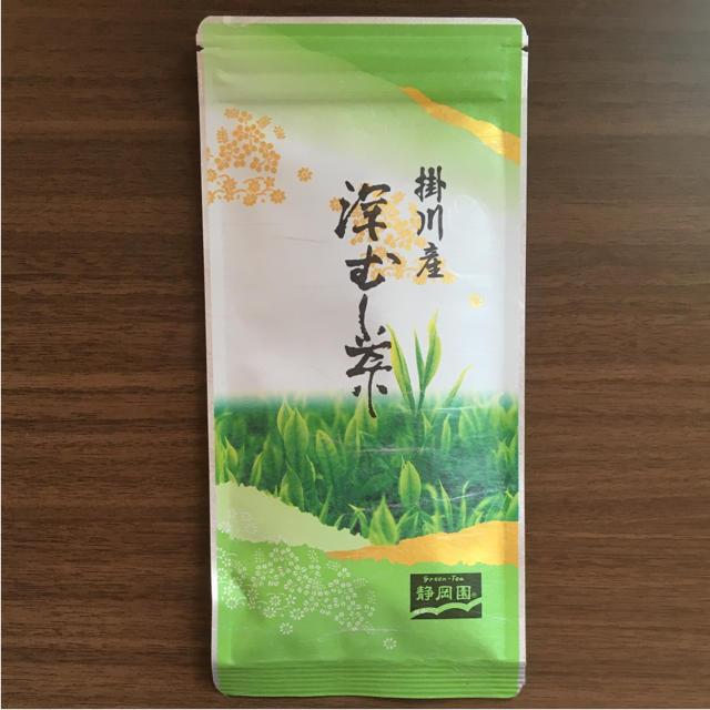 掛川産 深むし茶 静岡園 60g 食品/飲料/酒の飲料(茶)の商品写真