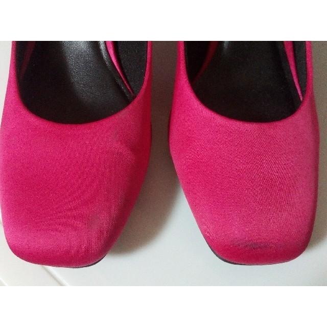 GU(ジーユー)の【GU】サテンスクエアトゥパンプス レディースの靴/シューズ(ハイヒール/パンプス)の商品写真