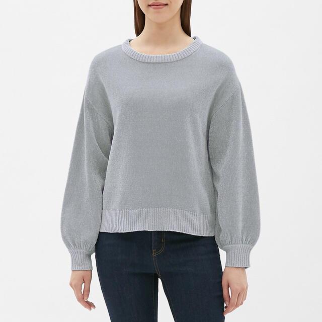 GU(ジーユー)のGU モールヤーンパフスリーブセーター(長袖) レディースのトップス(ニット/セーター)の商品写真