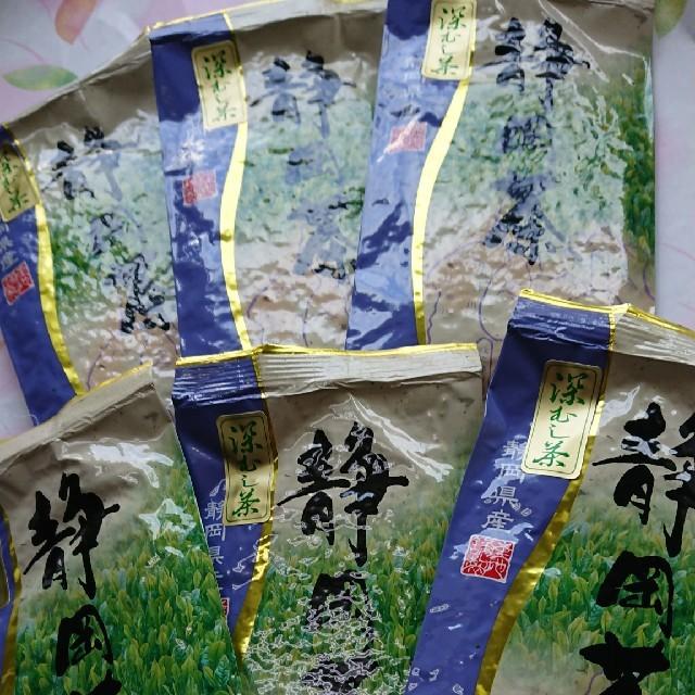 静岡県産  深むし茶100㌘6袋 食品/飲料/酒の飲料(茶)の商品写真