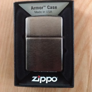 ジッポー(ZIPPO)のブラッククロム アーマ 新品(タバコグッズ)