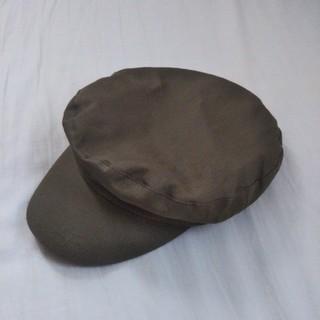 ジーユー(GU)のGU キャスケット帽 カーキ(キャスケット)