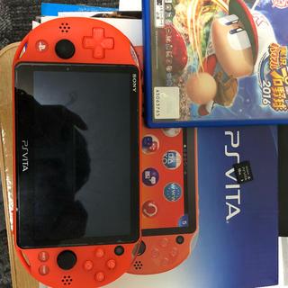 プレイステーションヴィータ(PlayStation Vita)のpsvita 本体 sdカード パワプロ2016(携帯用ゲーム本体)
