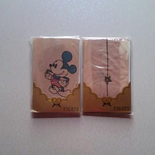 ディズニー(Disney)のミッキーと柄タイツ2足セット(タイツ/ストッキング)