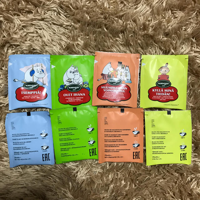 ムーミンの紅茶8セット 食品/飲料/酒の飲料(茶)の商品写真