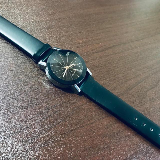 新品 未使用品 腕時計 人気 黒色 ブラック メンズ レディース 男女兼用 メンズの時計(腕時計(アナログ))の商品写真