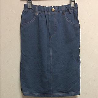 ジーユー(GU)のGU キッズ デニムスカート 140(スカート)