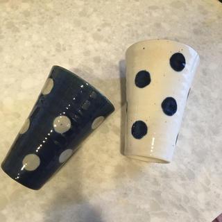 アクタス(ACTUS)のACTUS 陶器 ドット柄 コップ グラス(グラス/カップ)
