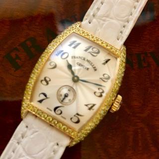 フランクミュラー(FRANCK MULLER)の【美品】フランクミュラー レディース 18金イエローゴールド イエローダイヤ(腕時計)