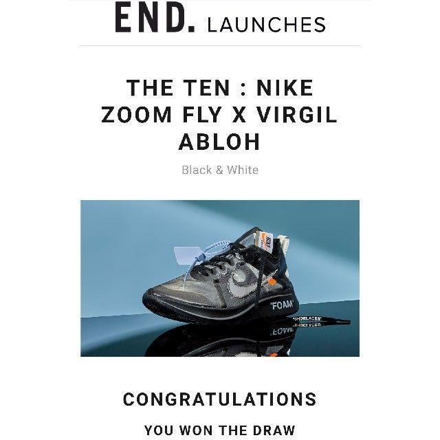 NIKE(ナイキ)のNIKE OFF-WHITE Zoom Fly 27CM メンズの靴/シューズ(スニーカー)の商品写真