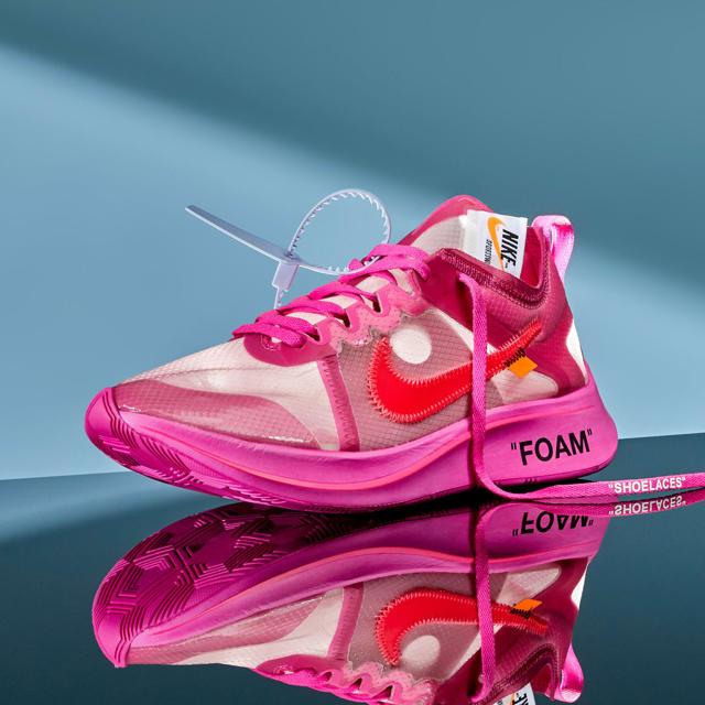 NIKE(ナイキ)のOff-White ZOOM FLY TulipPink 27.5cm メンズの靴/シューズ(スニーカー)の商品写真