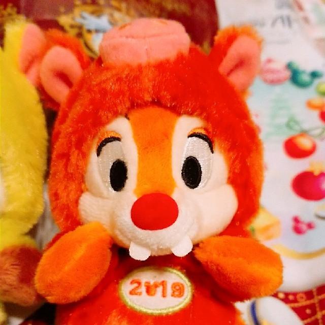 チップとデール☆2019☆干支☆イノシシ☆ぬいぐるみバッジ エンタメ/ホビーのおもちゃ/ぬいぐるみ(キャラクターグッズ)の商品写真