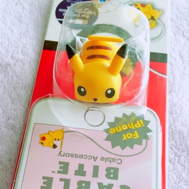 ポケモン(ポケモン)のケーブルバイト ピカチュウ 2個 エンタメ/ホビーのおもちゃ/ぬいぐるみ(キャラクターグッズ)の商品写真