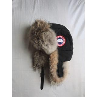 カナダグース(CANADA GOOSE)のカナダグースアビエイターハット黒 Aviator Hat black (ハット)