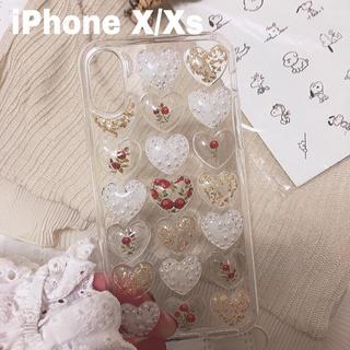 〈ハンドメイド〉 ハートiPhoneケース X/Xs(スマホケース)