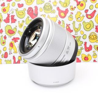 パナソニック(Panasonic)の超美品❤️超高性能❤️ルミックス G 25mm/ F1.7 ASPH. シルバー(レンズ(単焦点))