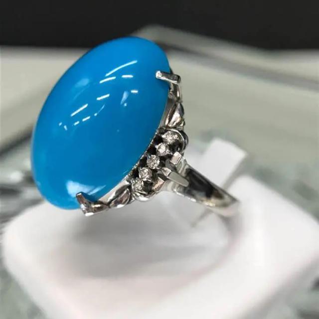 pm900 トルコ石付き リング 22号 18-3448 レディースのアクセサリー(リング(指輪))の商品写真