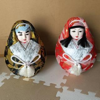 【美品】 縁起の良い七転八起の 郷土玩具 姫達磨(ひめダルマ)(置物)