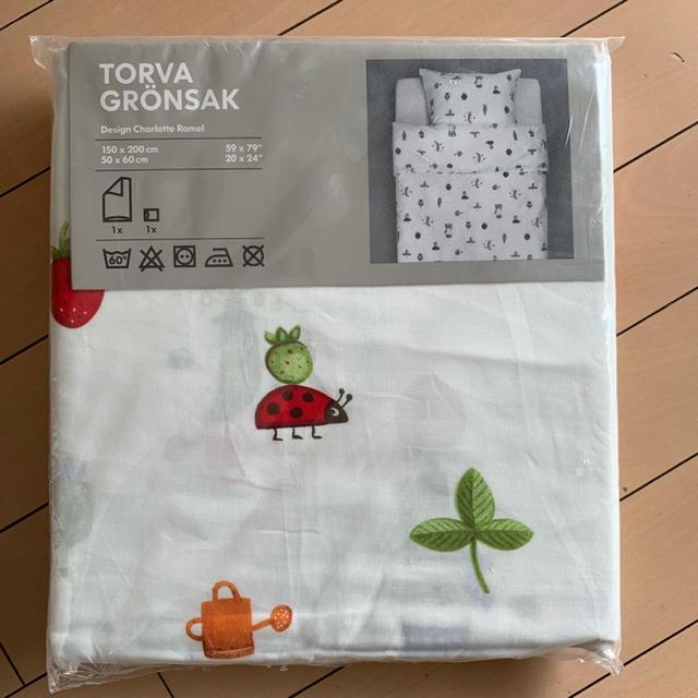 IKEA(イケア)の【新品】IKEA 布団カバー キッズ/ベビー/マタニティの寝具/家具(シーツ/カバー)の商品写真