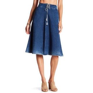エージー(AG)の美品 AG デニムスカート テイラースカート エージー デニム ジーンズ(ひざ丈スカート)