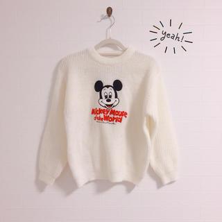 ディズニー(Disney)の【Amer World】ミッキー刺繍ニット✩︎子供服130古着(ニット)