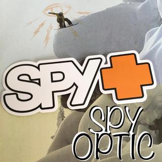 スパイ(SPY)のスパイオプティックSPYクロスSNOWサーフUS限定logo型抜きステッカーwt(アクセサリー)