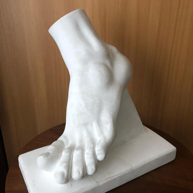 石膏像 男の足 ボルゲーゼの闘士 エンタメ/ホビーの美術品/アンティーク(彫刻/オブジェ)の商品写真