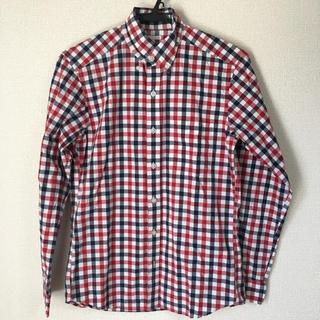 ジーユー(GU)のメンズ チェックシャツ GU ジーユー 長袖シャツ チェックシャツ S(シャツ)