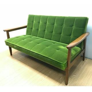 カリモクカグ(カリモク家具)のカリモク60 モケットグリーン ソファ 2シーター(二人掛けソファ)