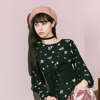 ジーユー(GU)の新品未使用 タグ付 中条あやみ着用 PINKベレーハット(ハンチング/ベレー帽)