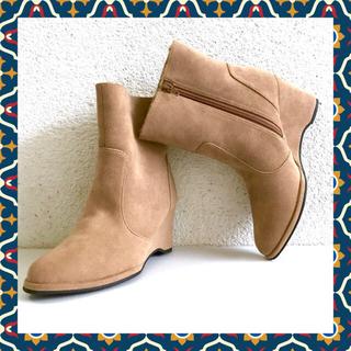 キュービーシー(q.b.c)のクロールバリエ /QVC   ●ボア付ウェッジショートブーツ【新品】(ブーツ)