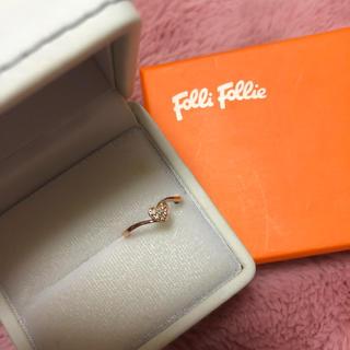 フォリフォリ(Folli Follie)のピンキーリング ピンクゴールド ハート (リング(指輪))